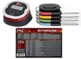 Weber iGrill 2 Thermometer With 4 Pro Meat Probes and GrillingPros Meat Smoking Guide Magnet