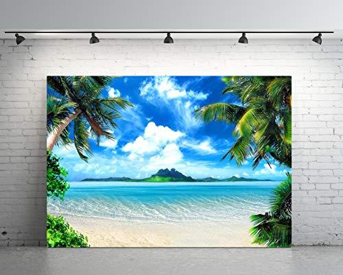 (7X5ft Sea Beach Backdrop Party Newborns Baby Shower Photography Vinyl Photo Background)