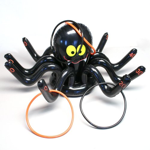 Fun Express - Inflate Spider Ring Toss Game for Halloween - Toys - Inflates - Inflatable Games - Halloween - 5 Pieces ()
