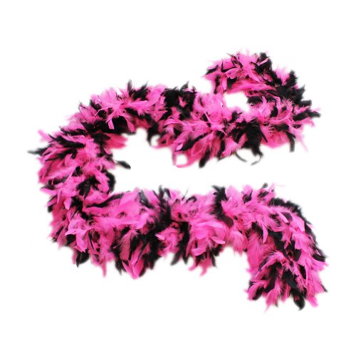 Cynthia's Feathers 100g Chandelle Feather Boa (Hot Pink/Black Mix)