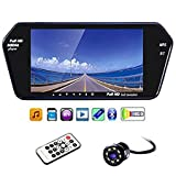 7 Inch Full HD Touch Screen Bluetooth LED Screen+8LED Reverse Camera for Cars