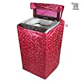 E-Retailer Classic Red Colour With Square Design Top Load Washing Machine Cover (Suitable For 6 kg, 6.5 kg, 7 kg, 7.5 kg)