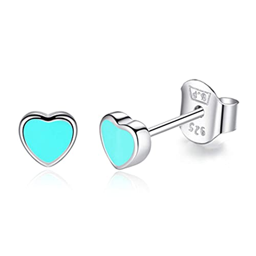 Wedding & Anniversary Bands Jewelry & Watches Romantic Fine Gemstone Jewelry Turquoise 925 Sterling Silver Earring