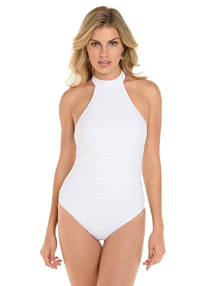 0e14e54846a49 Top6  Magicsuit Women s Magic Solids Ursula High Neck Racerback One Piece  Swimsuit