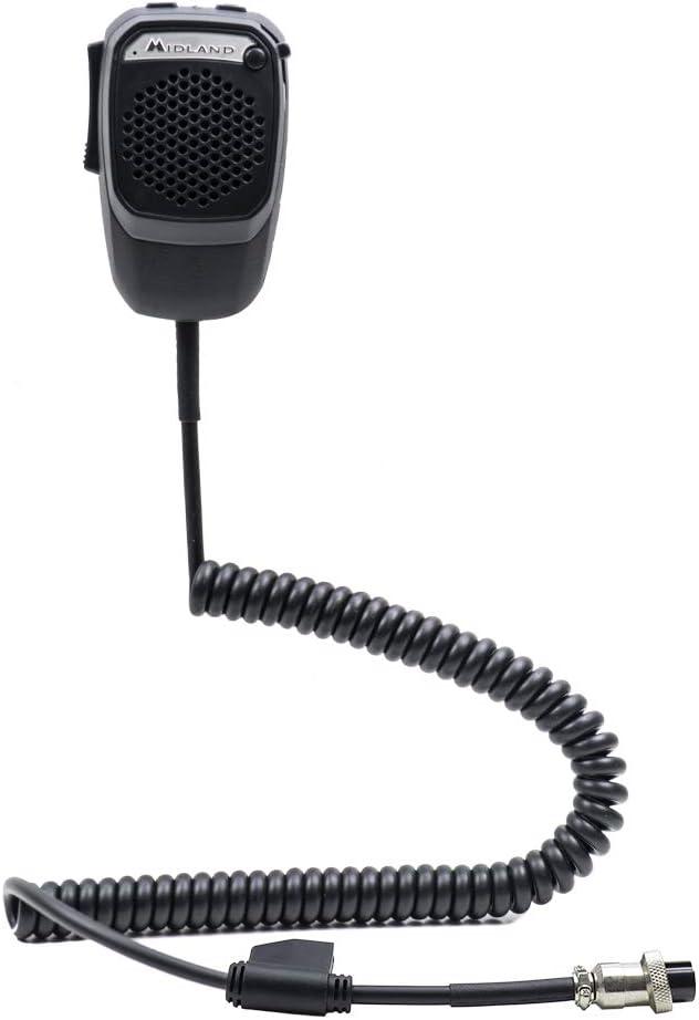 Midland Dual Mike Smartphone con Bluetooth 6 Pin Code C1283.02 con la aplicación CB Talk