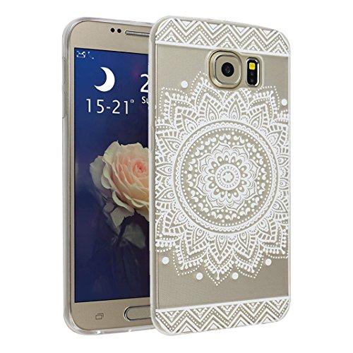 Galaxy S6 Case, Asnlove 5.1 pulgadas Carcasa TPU Silicona Bumper Shock-Absorción Slim Silicon Funda Trasera Back Cover Phone Shell Protector Funda Para Samsung Galaxy S6 G9200 Totem-3