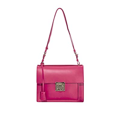 Image Unavailable. Image not available for. Color  Salvatore Ferragamo  Marisol Leather Shoulder Bag- Begonia 780e4aa67be8f