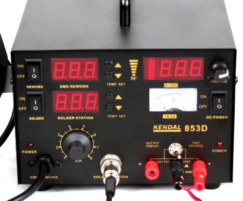 Kendal 853D 4 IN 1 SMD HOT AIR REWORK & SOLDERING IRON STATION / DC POWER SUPPLY & DC TEST METER by Kendal (Image #7)