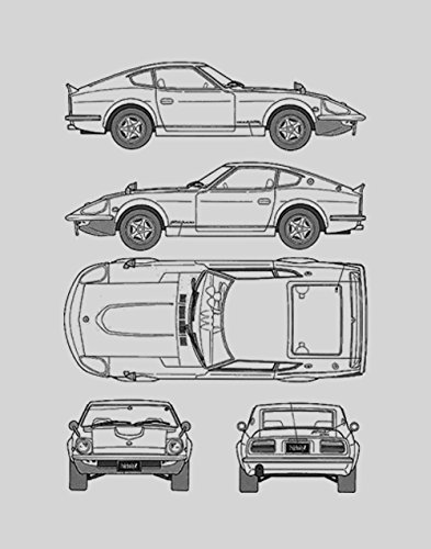 Amazon nissan blueprint print car wall art gift choose your nissan blueprint print car wall art gift choose your model 11x14 malvernweather Images