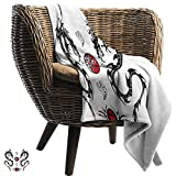 """ZSUO Children's Blanket 50""""x60"""" Inch Japanese Dragon,Tribal Tattoo Style Asian Indigenous Creatures"""