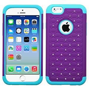 MegaTronic FullStar Protector Case Cover for iPhone 6 - Retail Packaging - Purple/Teal W/ Free Stylus