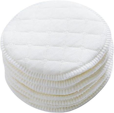 12 almohadillas de lactancia blancas de 9 cm de diámetro, suave ...