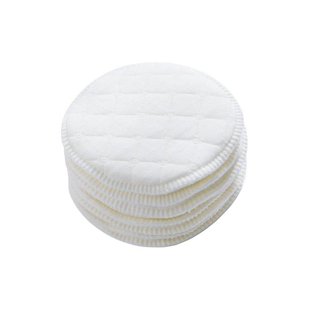 12PCS White Diameter 9cm/3.54inch Soft Organic Cotton Round Nursing Pads Eco-Friendly Washable Reusable Breastfeeding Pad for Women Lady UPSTORE