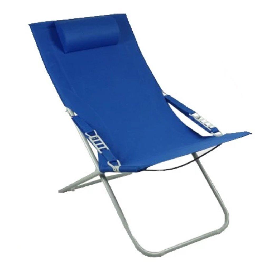 Anna Kletterstuhl Outdoor Klappstuhl Haushalt Mittagspause Recliners Büro Siesta Stuhl Leinwand Sonnenliege Strand Gartenstuhl Reise Stuhl (Farbe : Blau)