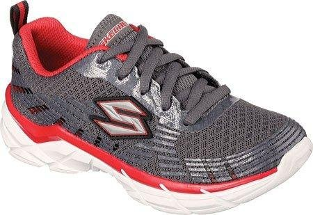 Skechers Boys' Rive Seize Sneakers,Charcoal/Red,US 10.5 M