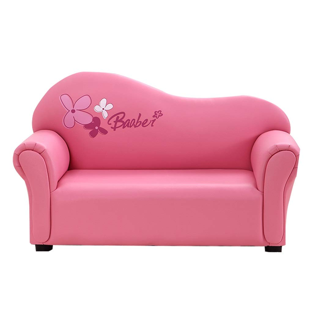 ベビーソファ 子供用ソファーソファーチェアベビーソファーイギリス風ソファーミニソファーバルコニーソファー小型ソファーイス漫画ソファーガールソファー誕生日プレゼント (Color : Pink, Size : 83*37*50cm) 83*37*50cm Pink B07SXGSYG7
