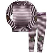 Vaenait baby Kids Boys Sleepwear Pajamas 2pcs Set Crayon Grape XS