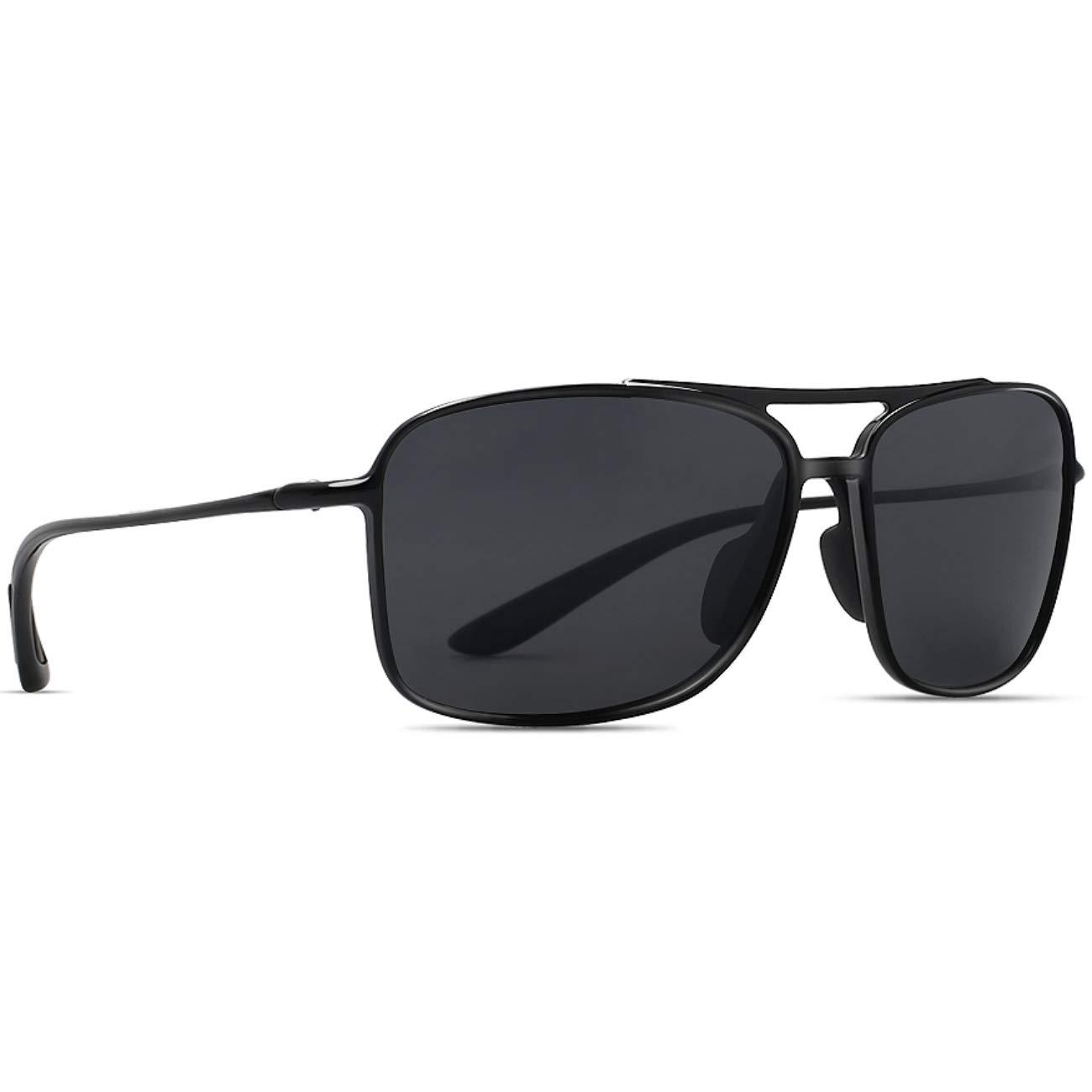 【国際ブランド】 JULI 偏光レンズ ユニセックス スポーツサングラス レディース メンズ TR90 B07DN94VZW JULI 超軽量 UV400 メンズ 紫外線カット B07DN94VZW 黒い/黒い 黒い/黒い, Rash:cd9676dc --- adornedu.com
