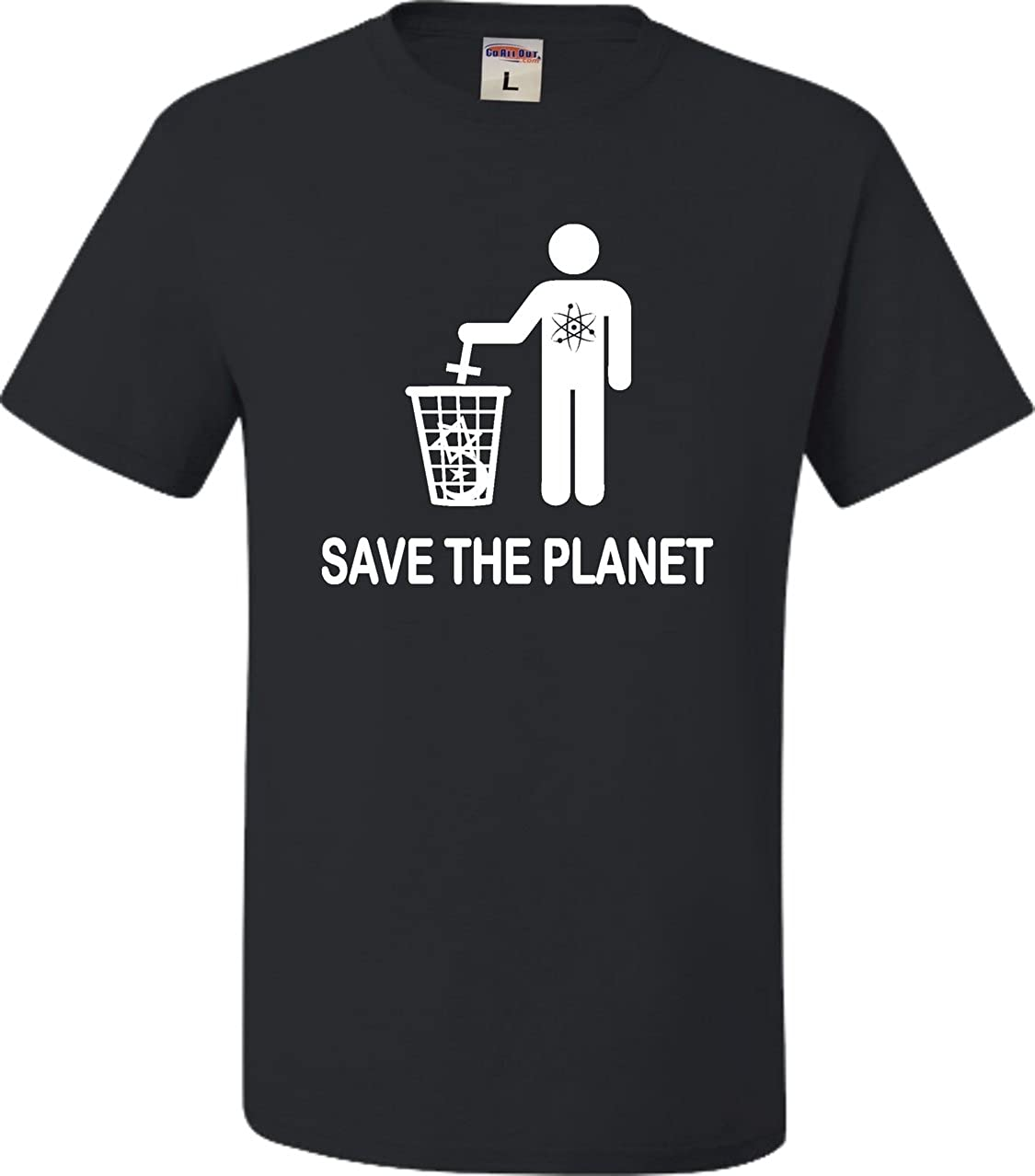 Go All Out Adult Save The Planet Funny Atheist T-Shirt