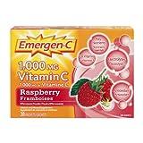 Emergen-C Raspberry, 1000mg Vitamin C / Electrolytes / B Vitamins, 30 Packets/Sachets