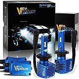 Vplus W Series LED Headlight Bulbs w/Clear Arc-Beam Conversion Kit -H7 80W 14,000LM 6500K White Seoul w/ Fan Headlamp Adjustable Light Pattern LED Replace HID&Halogen (2pcs/set)