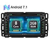 Android 7.1 Car Stereo DVD CD Player for Chevy GMC with Android Auto, GPS, Octa Core Support WiFi, Backup Camera, Bluetooth, OBD2, USB SD, MirrorLink
