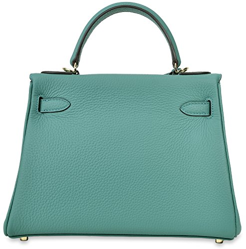 Shoulder Green Padlock Handbag Women's Top Handbags Cherish Kiss Handle Body Cross Satchel Lake pZFRBwq