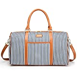 Ladies Women Weekender Bag Canvas Travel Duffle Tote Bag for Women Holdall Wenkend Overnight Bag