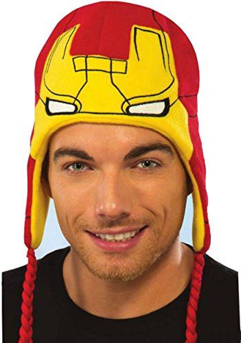 Rubie's Costume Co Adult Marvel Universe Iron Man Fleece Hat, Multi, One Size (Iron Man Hat compare prices)