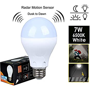 Motion sensor light bulb 7w60w equivalent radar smart bulb dusk motion sensor light bulb7w60w equivalent radar smart bulb dusk to dawn aloadofball Choice Image
