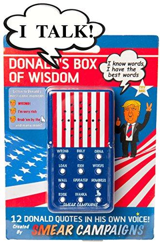 Smear Campaigns Donald Trump's Box Of Wisdom Plays 12 Donald Trump Quotes – Donald Trump's Real Voice Talking -You'll Laugh Bigly, Guaranteed!
