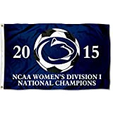 PSU Nittany Lions 2015 Div I Women's Soccer Champs Flag