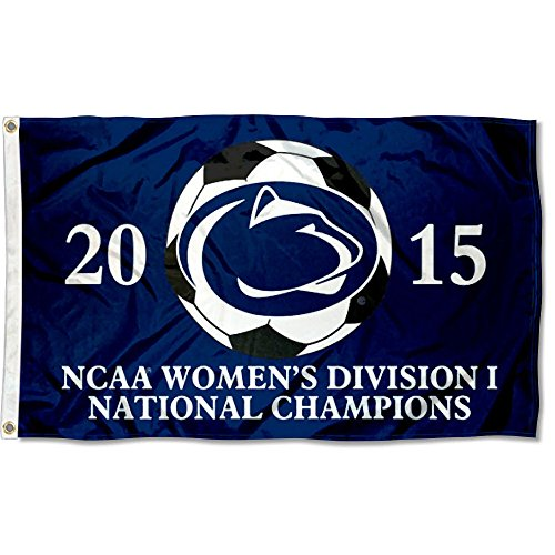 College Flags and Banners Co. PSU Nittany Lions 2015 Div I Women's Soccer Champs Flag ()