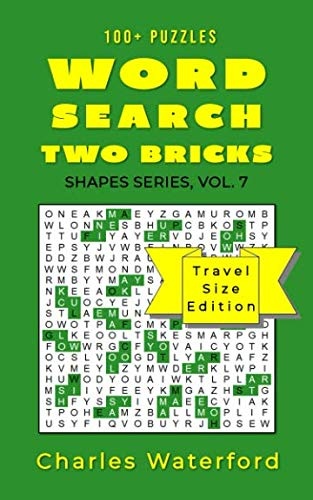 WORD SEARCH TWO BRICKS (Shapes Series, Vol. 7): Travel Size Edition