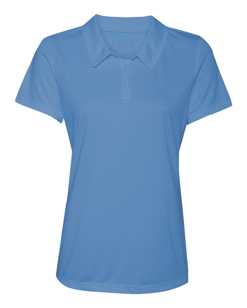 Women's Dry-Fit Golf Polo Shirts 3-Button Golf Polo's in 20 Colors XS-3XL Shirt LtBlue-L by Animal Den