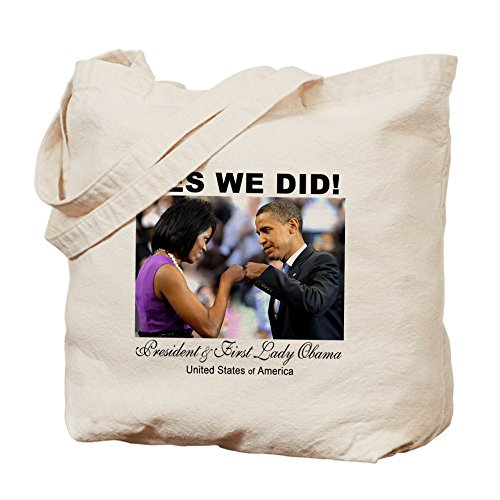 CafePress Unique Design Obama Fist Bump Tote Bag - Standard Multi-color by CafePress