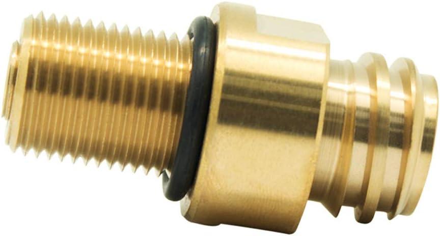 Leepesx Soda Stream Maker Valve Adapter Copper CO2 Refilling M181.5 Thread High Accuracy