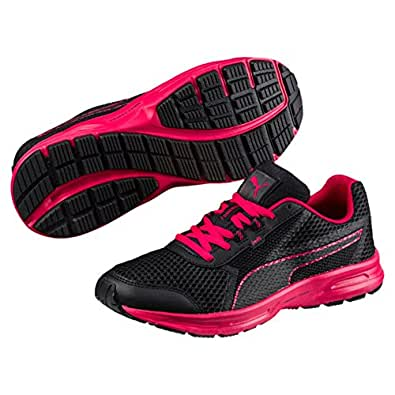 PUMA Women's Essential Runner Wn, Black-Love Potion,6 US
