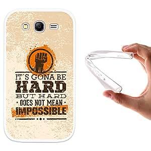 WoowCase - Funda Gel Flexible { Samsung Galaxy Grand Neo } Frase Motivación - Impossible Carcasa Case Silicona TPU Suave