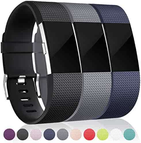 Maledan Replacement Bands for Fitbit Charge 2, 3 Pack
