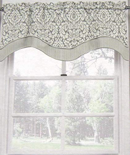 Window Valance Damask - Waverly Home Divine Damask Valance 52