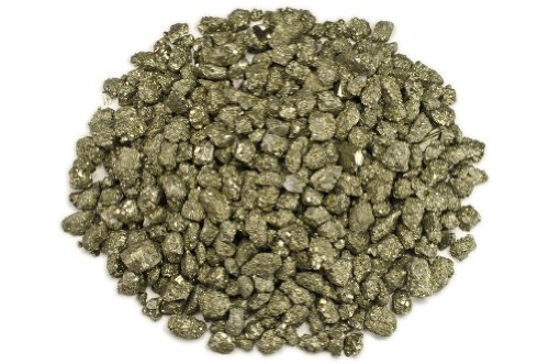 Hypnotic Gems Materials: 1 lb Pyrite Fools Gold Small Stones from Peru - 1/2