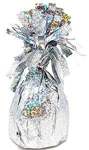 Unique Party Foil Balloon Weight, Prismatic Silver
