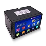 Yody 2 Din In Dash Android Car Radio Stereo Multimedia Player 7 Inch HD Touch Screen Support Bluetooth GPS Navigation WIFI Mirror Link AUX Input SWC with Backup Camera + External Microphone