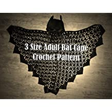 3 Sizes Adult Bat Cape Crochet PATTERN
