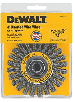 DEWALT DW4930 4-Inch by 5/8-Inch-11 Full Cable Twist Wire Wheel/Carbon Steel .020-Inch by DEWALT