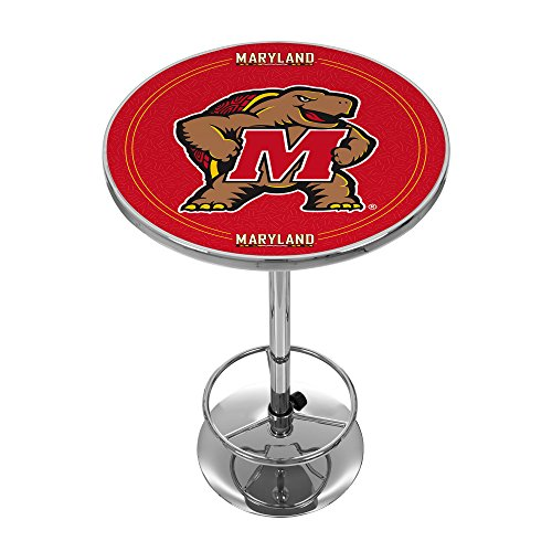 NCAA University of Maryland Chrome Pub Table by Trademark Gameroom