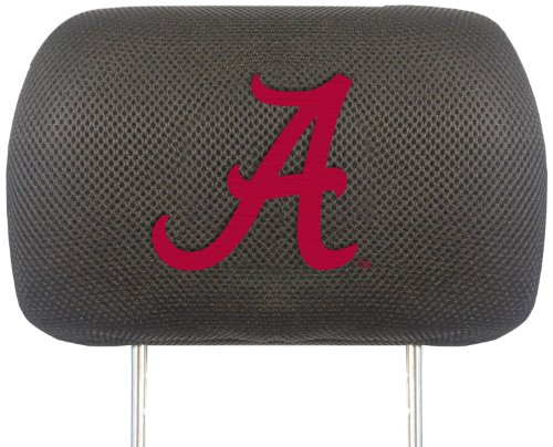 Fanmats NCAA University of Alabama Crimson Tide Polyester Head Rest Cover by Fanmats