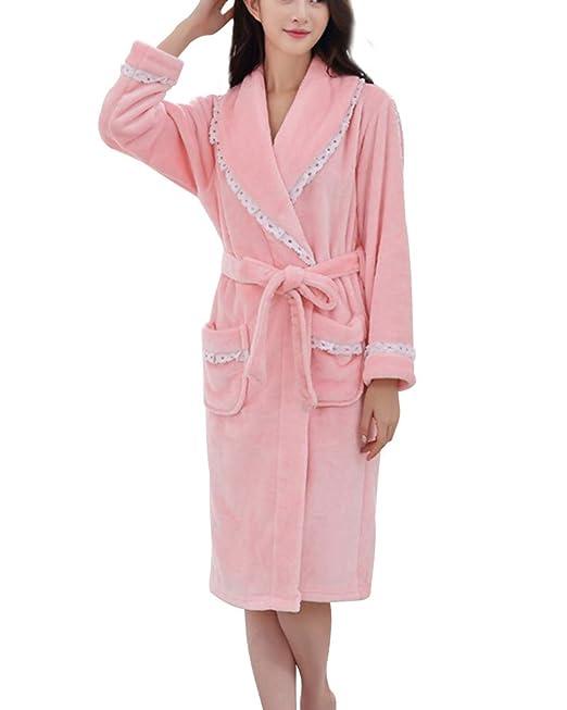 Unisex Calientes Albornoz Invierno Batas Suave Comodo Kimono Pijamas para Hombre y Muje: Amazon.es: Ropa y accesorios