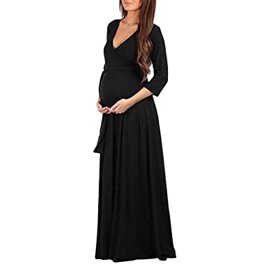 Pregnant Women Lace Party Maxi Dress Maternity Cocktail Evening Formal Size 8-14
